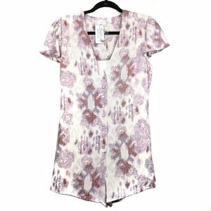 Honey Punch | NWT Floral Button Front Romper